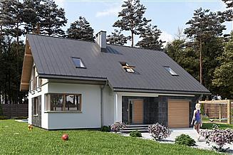 Projekt domu Skarbek As - murowana – beton komórkowy