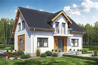 Projekt domu Sowa 1 bez garażu