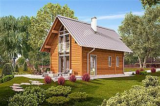 Projekt domu letniskowego Murator DL14S Marzycielski (rekreacyjny)