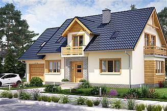Projekt domu BW-44 wariant 5 (garaż 1st.)