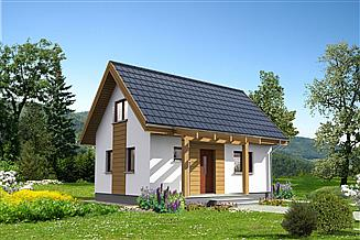 Projekt domu letniskowego Martin LMW18