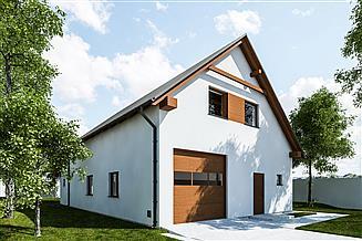 Projekt garażu G316 - Budynek garażowo - gospodarczy