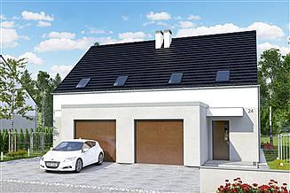 Projekt domu Azalia II z garażem 1-st. bliźniak [A-BL1]
