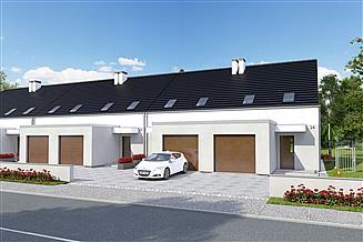 Projekt domu Azalia II z garażem 1-st. szeregówka [A-SZ]