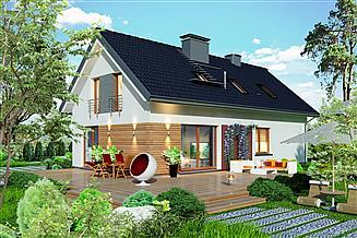 Projekt domu Domidea 58 dG w2