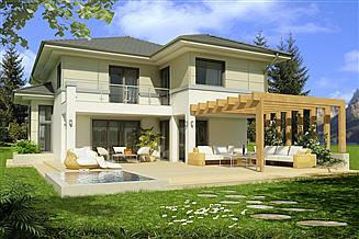 Projekt domu Kastylia A 2 garaże