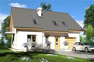 Projekt domu Ewa Lux 1A garaż