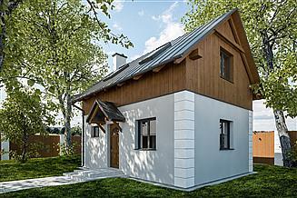 Projekt domu letniskowego G320 - Budynek rekreacji indywidualnej