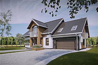 Projekt domu Herbert - murowana – beton komórkowy