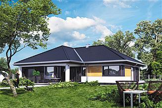 Projekt domu Tycjan - murowana – beton komórkowy