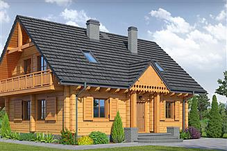 Projekt domu Brzeg średni 15 dw