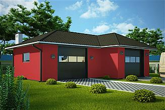 Projekt garażu G312 - Budynek garażowy
