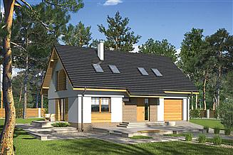 Projekt domu Murator M206 Ukryty w ciszy