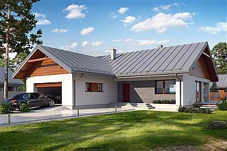Projekt domu Endo 2 drewniany