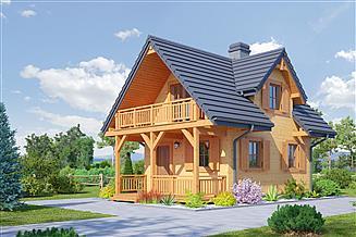 Projekt domu letniskowego Gajowo 68 dws