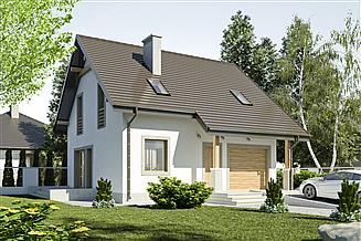 Projekt domu Turkawka z garażem 1-st. [A]