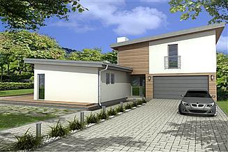 Projekt domu Mango 2B 2-garaże