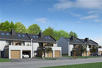 Projekt domu JB55 szeregowy segment środkowy prawy