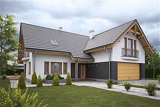 Projekt domu Kardamon z garażem dwustanowiskowym