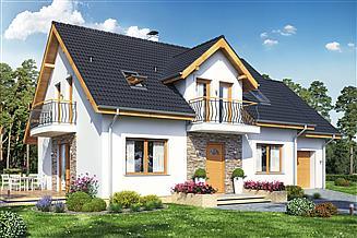 Projekt domu Sowa 10 z garażem