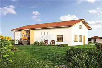 Projekt stodoły Murator IGC20 Stodoła z pom. gospodarczym