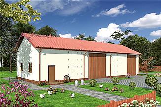 Projekt stodoły Murator IGC11a Stodoła z pom. gospodarczym i garażem