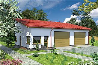 Projekt magazynu Murator GMC33c Budynek garażowo-magazynowy z pom. pomocniczymi