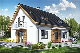 Projekt domu Sowa 11 bez garażu