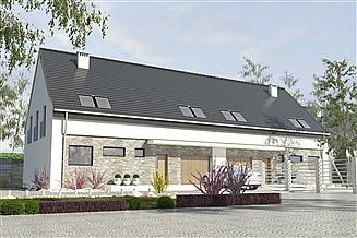 Projekt domu Bernikla z garażem 2-st. bliźniak [A-BL1]