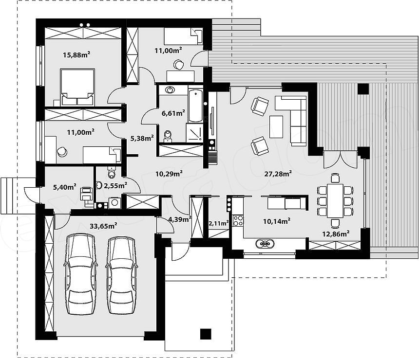 projekt domu, extradom, dom arteo2, arteo2