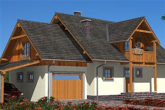 Projekt domu A-143 Dom szkieletowy