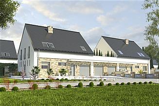 Projekt domu Bernikla II z garażem 2-st. bliźniak [A1-BL1]