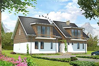 Projekt pensjonatu Budynek agroturystyczny Brzoza LMPS01