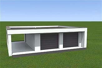 Projekt garażu Garaż BG23