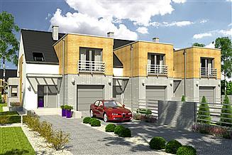 Projekt domu Bazyli trend z garażem 1-st. szeregówka [A-SZ]