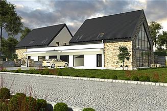 Projekt domu Bernikla III z garażem 2-st. bliźniak [A-BL1]