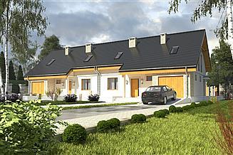 Projekt domu Alka z garażem 1-st. bliźniak [A-BL2]