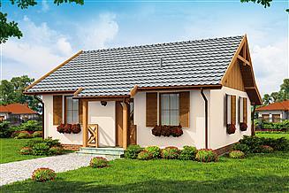 Projekt domu letniskowego Barbados dom letniskowy szkielet drewniany