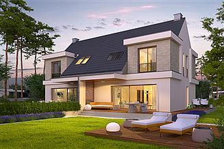 Projekt domu Oliwier z wiatą (bliźniak)
