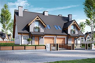 Projekt domu Sambor G1 (bliźniak)