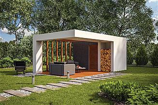 Projekt budynku gospodarczego Murator GC101 Budynek gospodarczy
