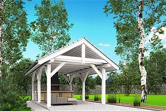 Projekt altany A1 - altana ogrodowa z grillem