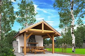 Projekt altany A2 - altana ogrodowa z grillem