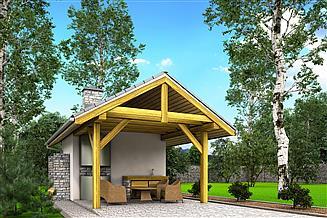Projekt altany A3 - altana ogrodowa z grillem