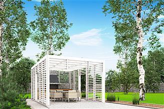 Projekt altany A4 - altana ogrodowa z grillem