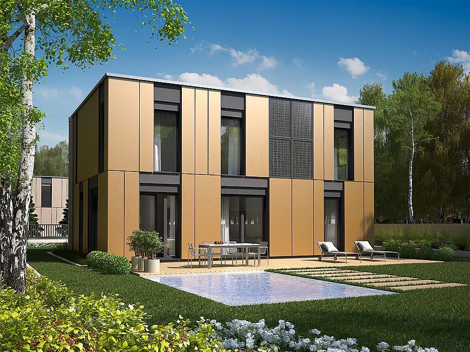 Projekt Domu Prostokątny 140 M2 Koszt Budowy 211 Tys Zł Extradom