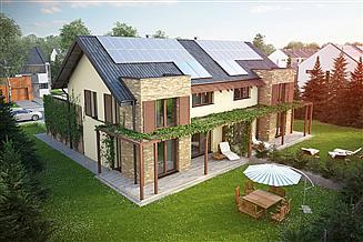 Projekt domu Twin classic - bliźniak (całość L+P)