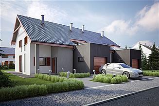 Projekt domu Twin economic - bliźniak (całość L+P)