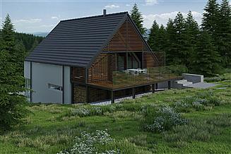 Projekt domu Z tarasem