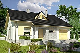 Projekt domu Alf z garażem 1-st. [A]